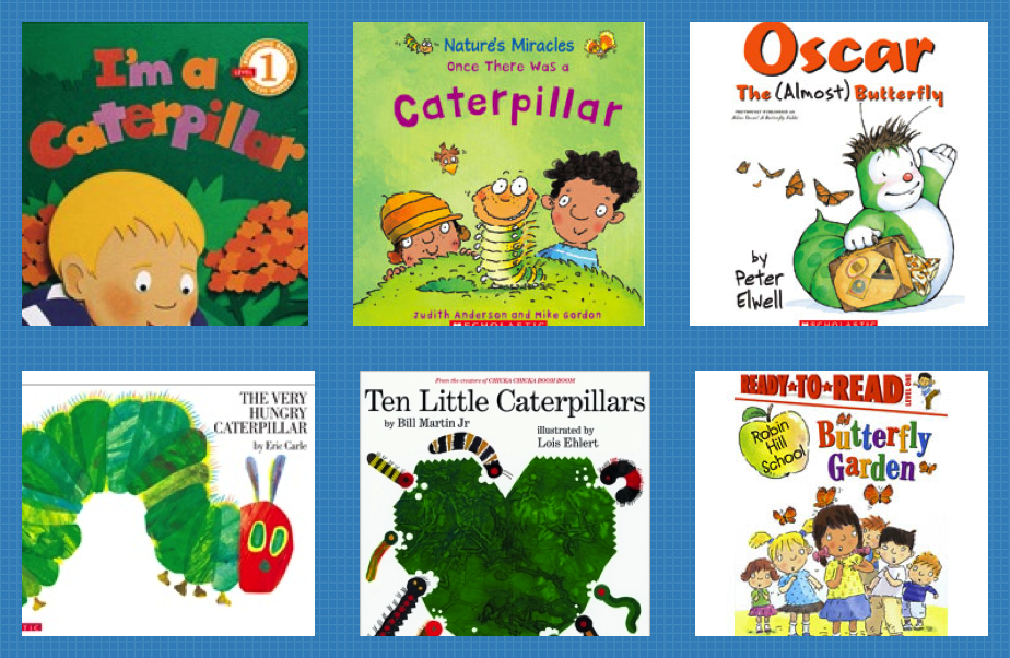 butterfly books for kindergarten, butterflies, caterpillars