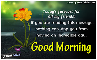 Good Morning Quotes For Best Friend: if you are reading this message, nothing can stop you from having an incredible day.