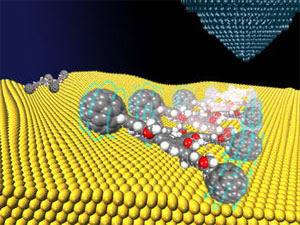 История создания механизмов, собранных из единичных молекул, началась еще в 1984 году, когда лауреат Нобелевской премии Ричард Фейнман предсказал теоретическую возможность строительства механизмов из молекул примерно через 20–30 лет. Однако на практике создание таких машин пошло иным путем.  Обычно молекулы соединяются так называемыми ковалентными связями, которые образуются в результате перекрытия пары валентных электронных облаков. Однако химики мечтали создать связи между молекулами механического типа, например как зубцы у шестеренок.  И вот в 1983 году французские исследователи во главе с Жан-Пьером Соважем смогли создать механическое переплетение двух молекул, которые поначалу притягивались к иону меди. Молекулы соединялись вокруг этого иона, который затем удалялся, и получалось уникальное зацепление двух колец. Это был первый шаг к созданию молекулярных машин. Но для того чтобы машины работали, их части должны двигаться относительно друг друга. И в 1994 году группа Жан-Пьера Соважа смогла сделать так, что одна молекула вращается вокруг другой — при получении внешней энергии.  К тому времени исследователи во главе с Фрейзером Стоддартом собрали молекулярное кольцо, через которое проходила такая же молекулярная ось. Когда эта конструкция получала тепловую энергию, кольцо начинало скакать от одного конца оси к другому. В последующие десять лет эта группа создала искусственную мышцу, которая могла гнуть тончайшую пластинку из золота.  К слову, Жан-Пьер Соваж также исследовал потенциал ротаксанов, и к 2000 году ему удалось создать молекулярную структуру, напоминающую мышцу, а также ротаксан, в котором кольцо вращается в разных направлениях.