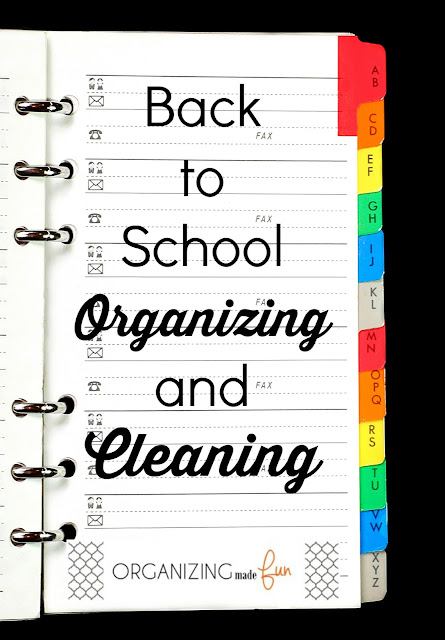 5 Tips for Back to School Organizing and Cleaning :: OrganizingMadeFun.com