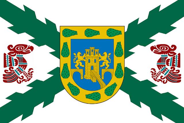Bandera del Estado Novohispano diseñada por Cabeleira Santoro