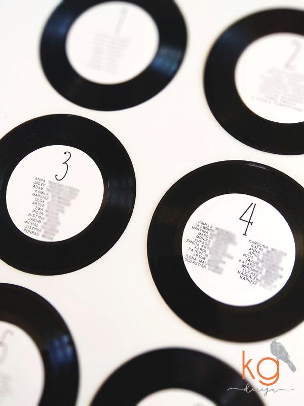 płyta winylowa, winyl, 12 cali, 7 cali, muzyczne zaproszenie, muzyczne dodatki ślubne, rockowe zaproszenia, rockowe dodatki, płyta winylowa, czarne, czerwone, fioletowe, winietki, menu, numery stołów, plan stołów, księga gości, tablice rejestracyjne, oryginalne dodatki ślubne, zaproszenia ślubne, wyjątkowe, nietypowe, oryginalne, czarno-białe, zaproszenie na płycie, muzyczne, kaseta magnetofonowa, winietka kaseta, kg design, papeteria ślubna, poligrafia ślubna, detale ślubne, plan stołów, rockowy ślub, rock na ślubie,