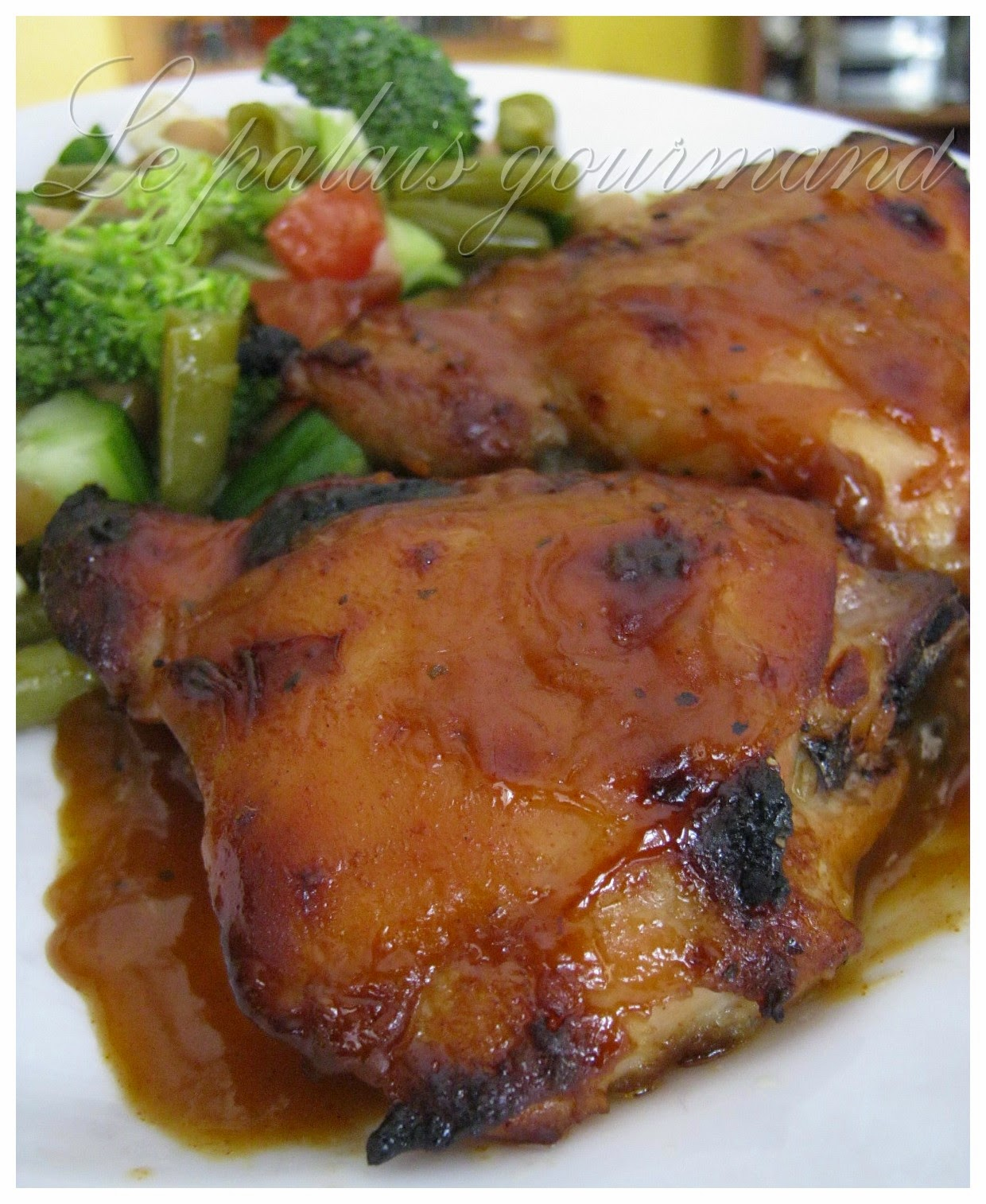 le palais gourmand hauts de cuisse de poulet grill sauce b b q maison. Black Bedroom Furniture Sets. Home Design Ideas