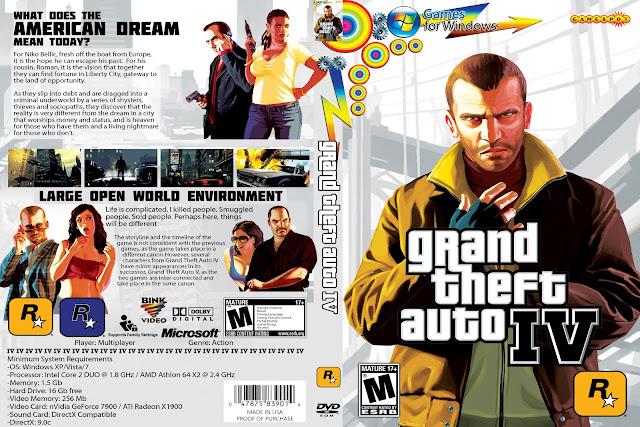 Capa Grand Theft Auto IV PC