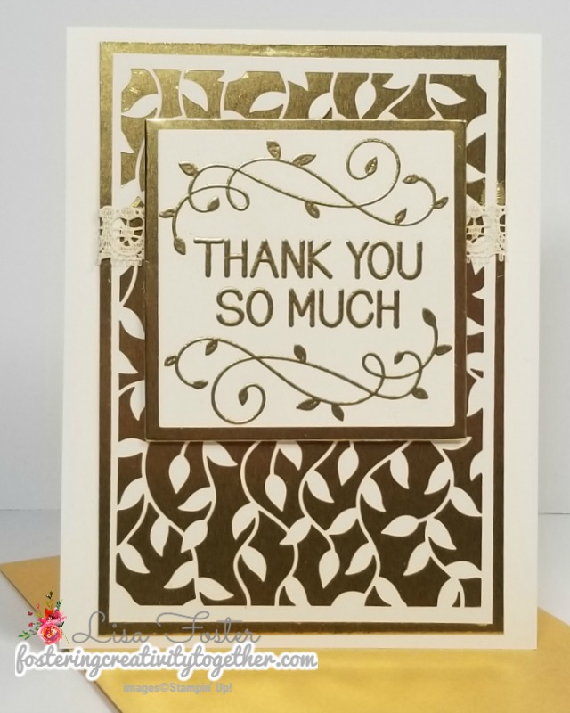 One for All, heat embossing, Delightfully Detailed Laser-cut Specialty Paper, Stampin Up!