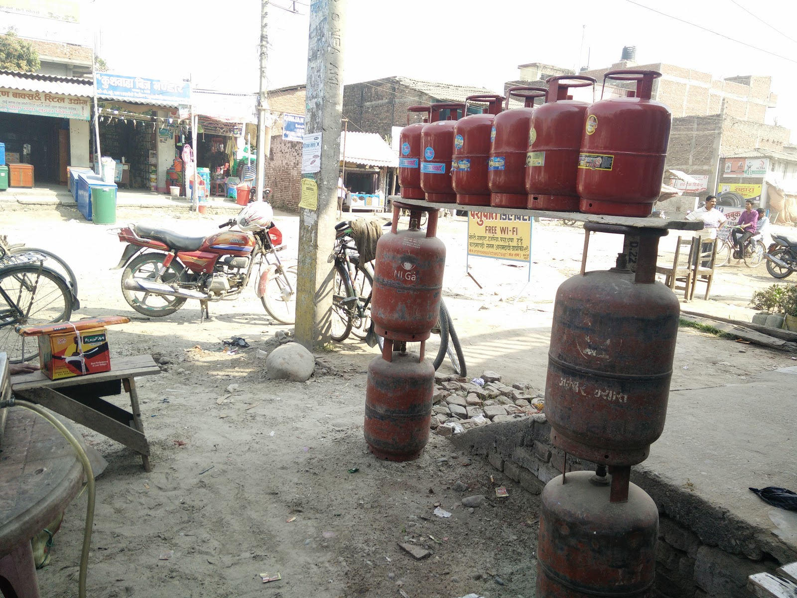 Gas cylinder in Barahathawa