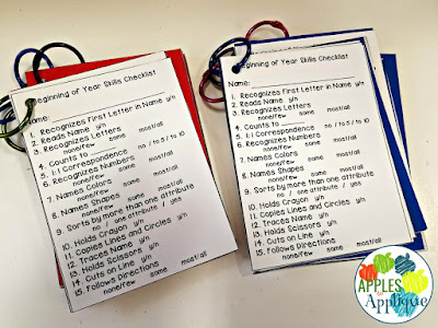 Baseline Skills Checklists for Pre-K | Apples to Applique