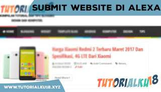 Submit Website di Alexa
