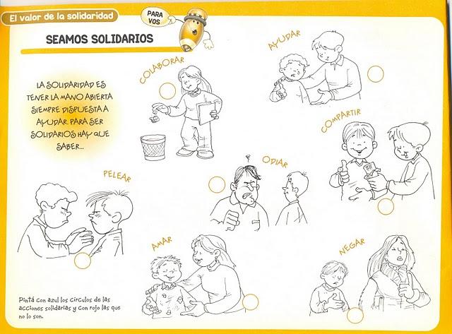 Dibujos Para Colorear Valores Humanos Para Niños La