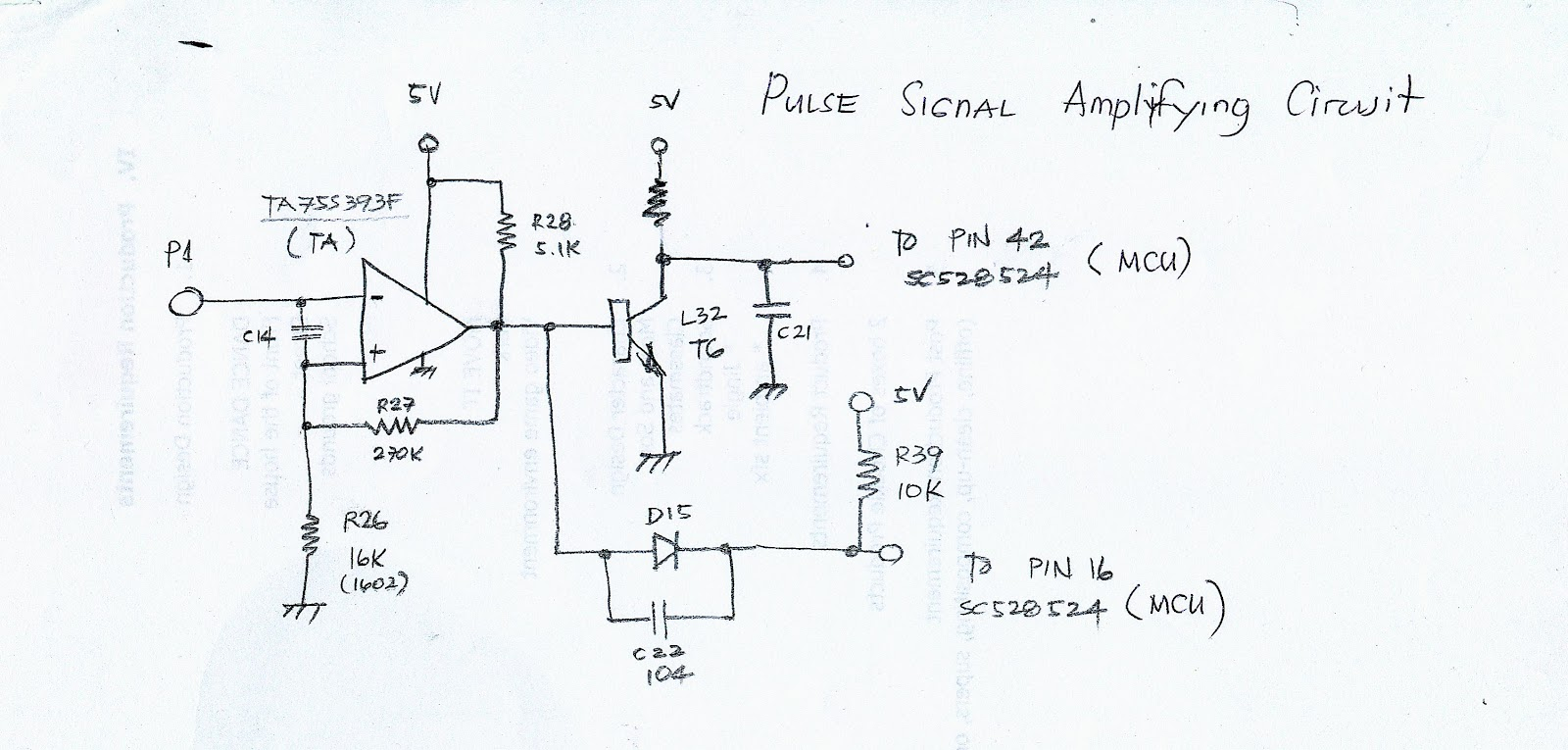 Pulse Signal Amplifying circuit