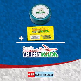 "Promoção Raspou Ganhou ""Passaporte Webfestvalda"""