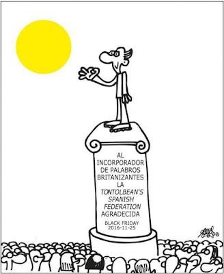 Al incorporador de palabros britanizantes la tontolbean's Spanish federation  agradecida , black friday