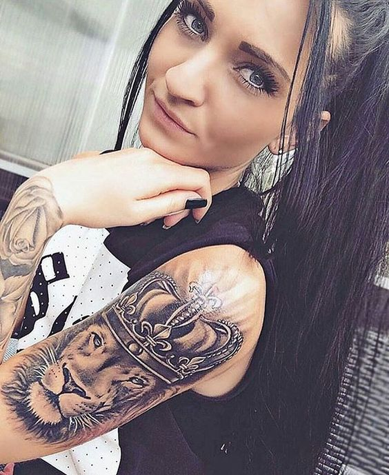 22 stunning sleeve tattoos for women pop tattoo for Tattooed girl instagram