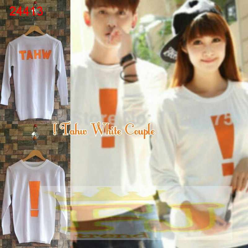 Jual Sweater Couple Sweater TAHW White - 24413