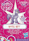 My Little Pony Wave 18 Royal Riff Blind Bag Card