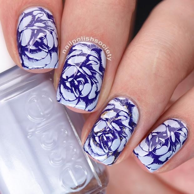 nail polish society double stamped