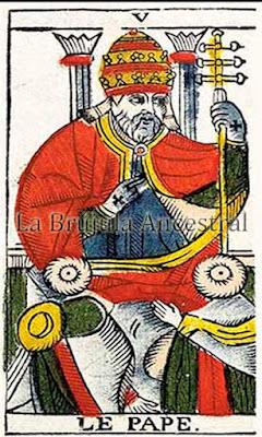 El Papa en el Tarot de Marsella