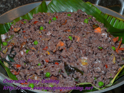 Purple Seafood Bringhe Banana leaf Cover