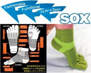 アーチサポート機能が付いた5本指ソックス『3F-SOX』