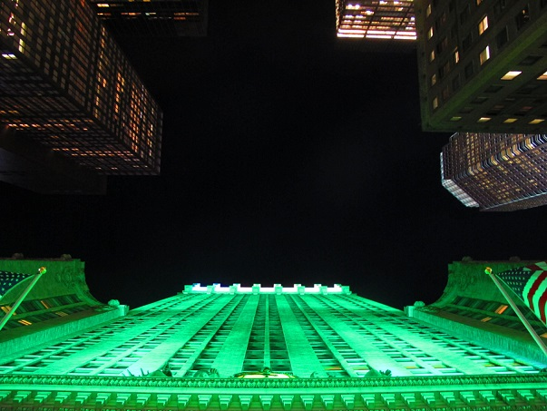 Green light on St Patrick's Day in NYC
