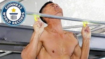 Most two finger pull ups in one minute – Guinness World Records