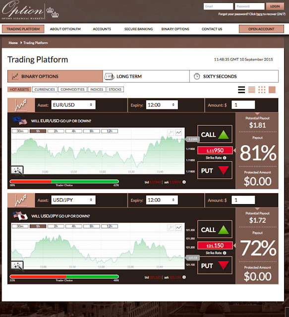 Option.fm Binary Options