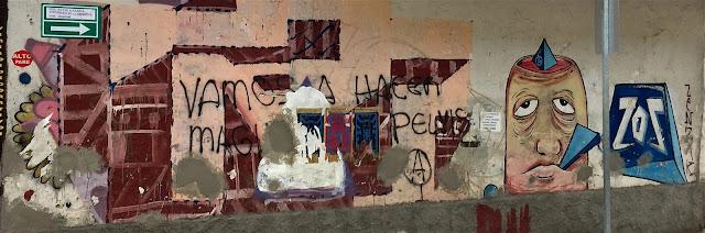 Jumbled wall art
