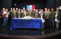 Acadêmicos e convidados no encerramento da sessão solene