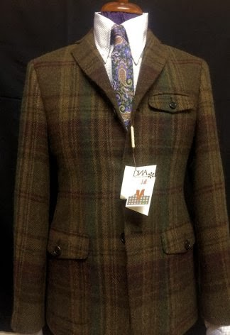 fb8c05389e7f Brown, burgundy and green large multi check - Heavy weight tweed made by  Magee from luxury house Comeliani
