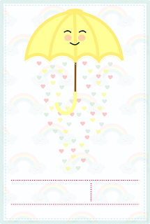 Rain of Blessings: Free Printable Infographic Invitation.