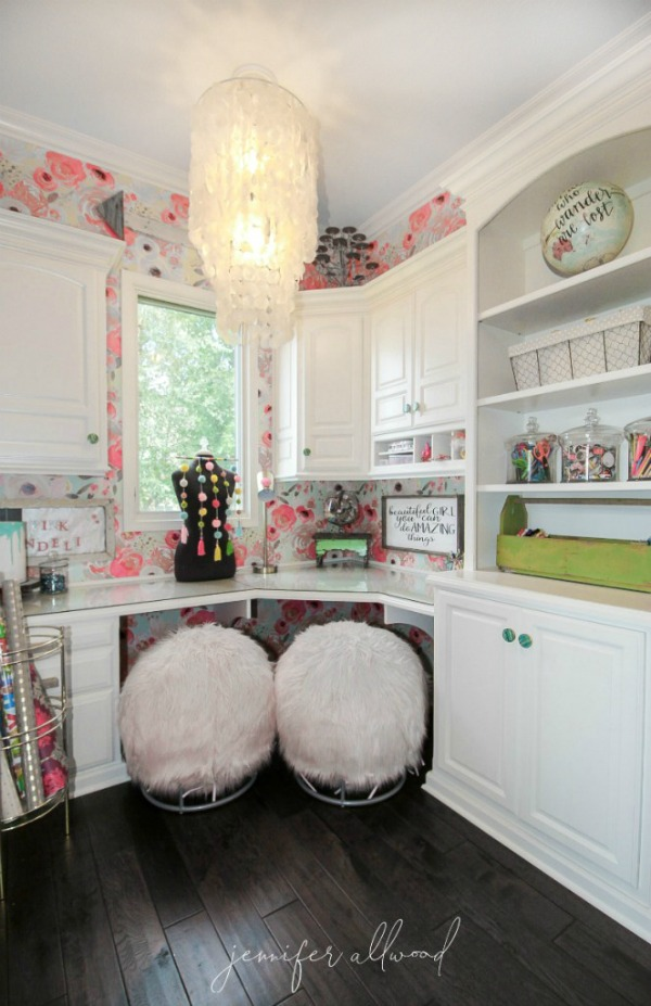 fun and colorful teen craft space