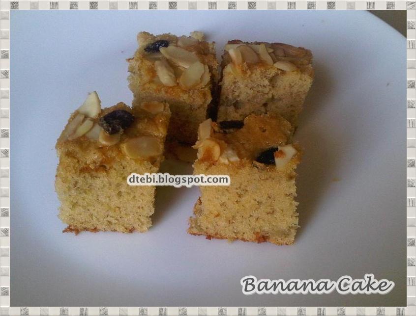 Resep Banana Cake Khas Jepang: D-Tebi Cake, Online Cake Cookies Balikpapan: Resep Banana Cake