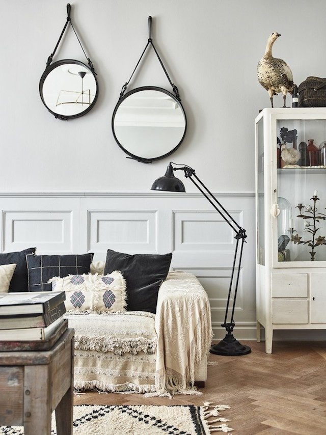 Swedish apartment with retro and boho chic influences design attractor bl - Deco vintage scandinave ...