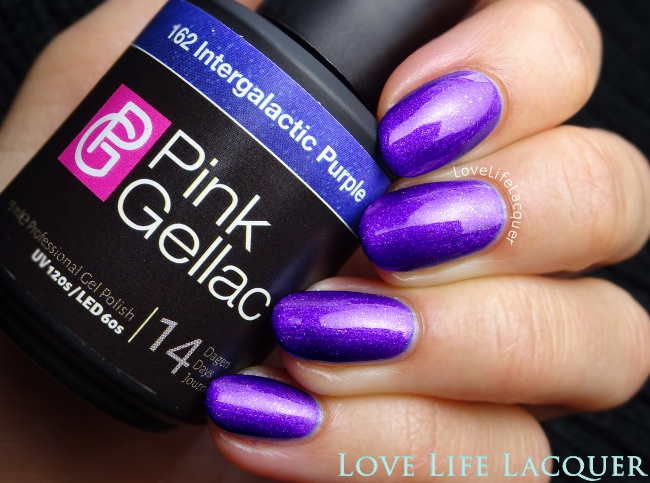 Pink Gellac Intergalactic Purple gel polish swatch