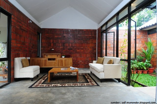 7 Contoh Gambar Dinding Rumah Dengan Bata Merah 100 Rumah