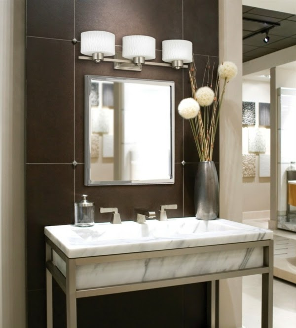 Bathroom wall lighting ideas new house designs how to choose the proper bathroom lighting ideas 20 examples mozeypictures Gallery