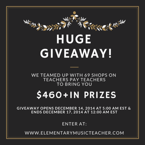Elementary Music Teacher's Huge Giveaway