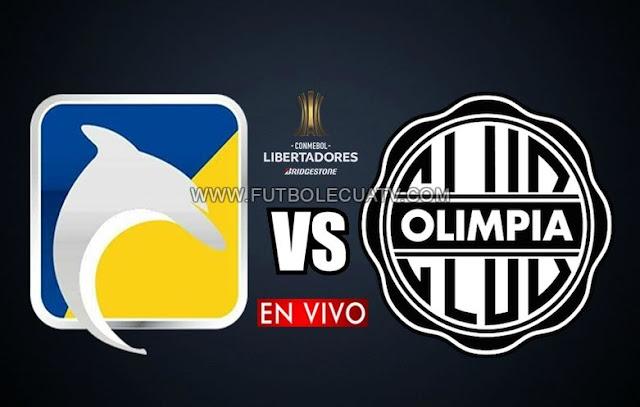 Delfín choca ante Olimpia en vivo por la primera jornada Grupo G de la Copa Libertadores a realizarse en el campo Jocay de Manta a partir de las 19H30 hora local, teniendo como juez principal Leodan González con transmisión del canal autorizado ESPN.