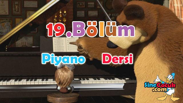 Maşa ile Koca Ayı: 19.Bölüm - Piyano Dersi Türkçe Dublaj İzle