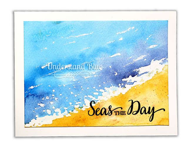 Stampin' Up! So Many Shells  - Schmincke masking fluid, Daniel Smith Watercolor by Understand Blue