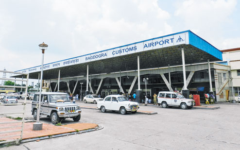 The Bagdogra airport terminal.