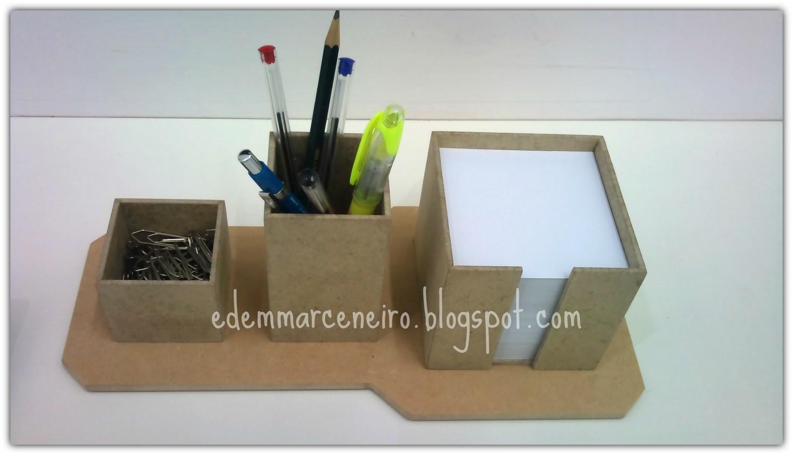 Armario Para Cozinha ~ Artesanato em MDF Porta Lápis, Clipes e Papel Lembrete Edem Marceneiro