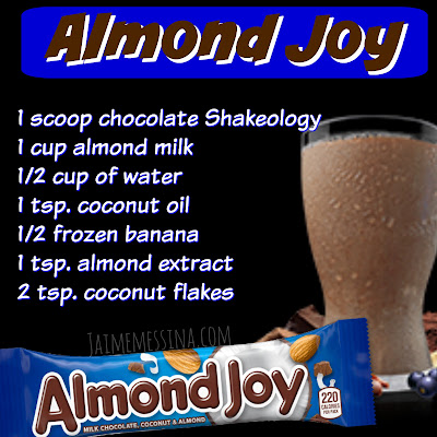 Almond Joy shakeology, healthy candy recipe, clean eating candy, healthy halloween