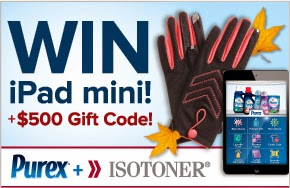 Enter to win an iPad mini and $500 Isotoner Gift Code. Ends 12/2.