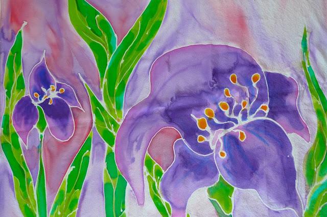Malowanie na jedwabiu- warsztaty