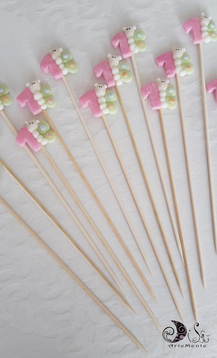 Popolare DiLù Artemente: Spiedini di marshmallow primo compleanno SH51