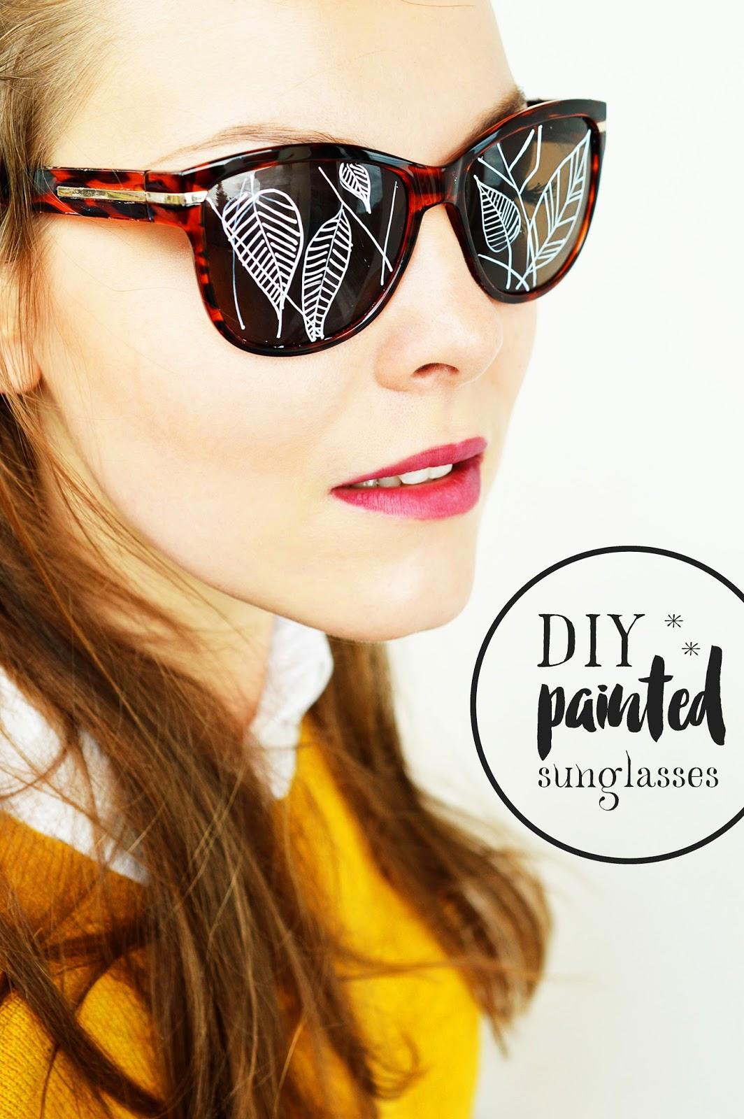 Season's Change | DIY PAINTED SUNGLASSES
