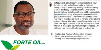 Nigerian Mogul Femi Otedola Explains Why He Sold His Shares In Forte Oil