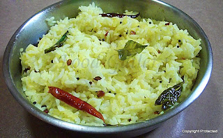 Mango rice, mamidikaya pulihora