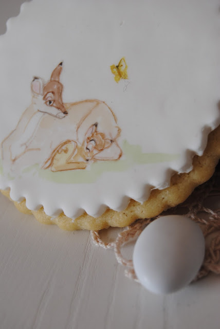 biscotto bomboniera dipinto per nascita / baby shower